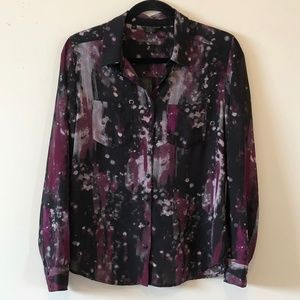 Guess Los Angeles Button Front Exploding Blouse